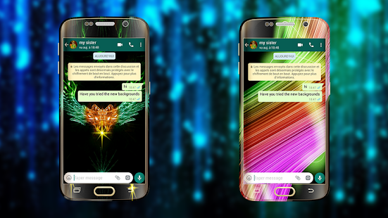 Wallpapers for WhatsApp - Background Chat Glow - náhled