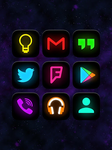 neon glow icon pack