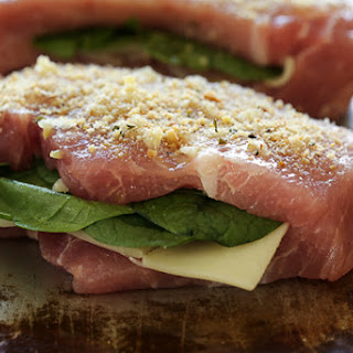 Stuffed Baked Pork Chops with Prosciutto and Mozzarella.