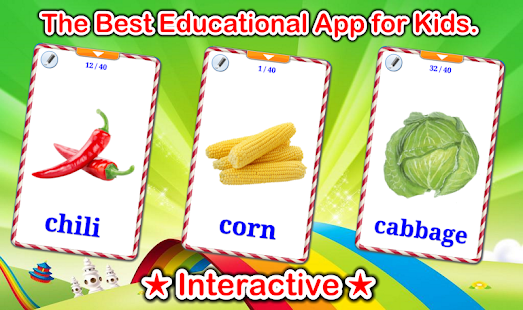 Vegetable Flashcards V2 PRO Screenshot