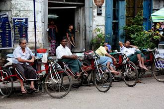 Photo: Year 2 Day 54 - Rickshaws Waiting on a Ride in Yangon