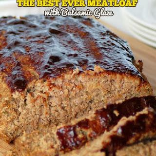 Meatloaf with Balsamic Glaze.