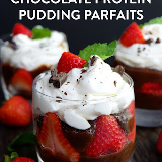 Chocolate Protein Pudding Parfaits.