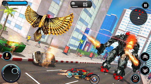 US Police Transform Cop Robot Bike Pigeon Game  captures d'écran 4