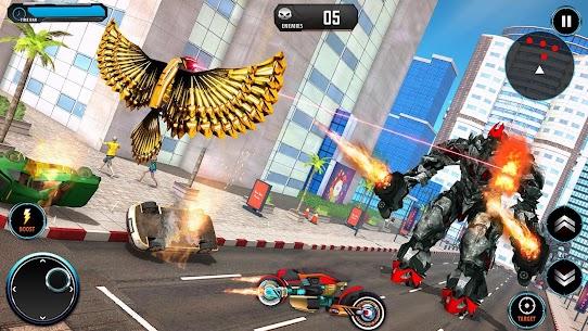 US Police Robot Bike Transform Pigeon Robot Games 4