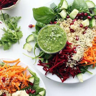 Firecracker Salad Bowl with Cilantro Detox Dressing