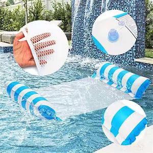 Sezlong gonflabil pentru plaja/apa, 70x120 cm, Roz/Albastru