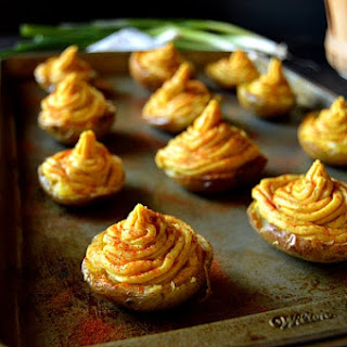 Deviled Potatoes (A vegan substitute for Deviled Eggs)