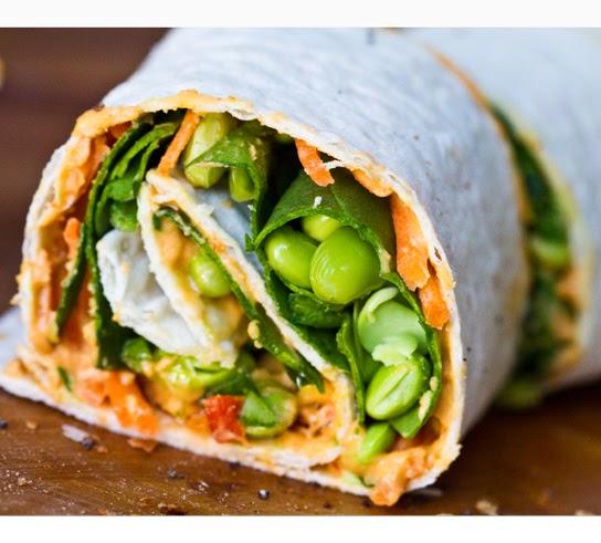 Vegan Lunchbox: Easy Hummus Spiral Wraps.