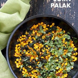Corn Palak - Curried Corn and Greens