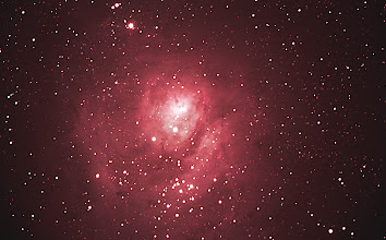 Photo: A recent attempt at the Lagoon Nebula  20 Minutes of light exposure time Celestron C8 at F/6.3 Celestron CGEM mount Canon T3i unmodified camera