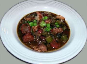 Chicken, Sausage & Shrimp Gumbo by Mellina