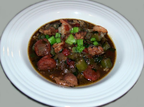 Chicken, Sausage & Shrimp Gumbo By Mellina Recipe