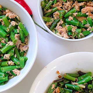 Quick-and-Easy Healthy Bean and Salmon Salad.
