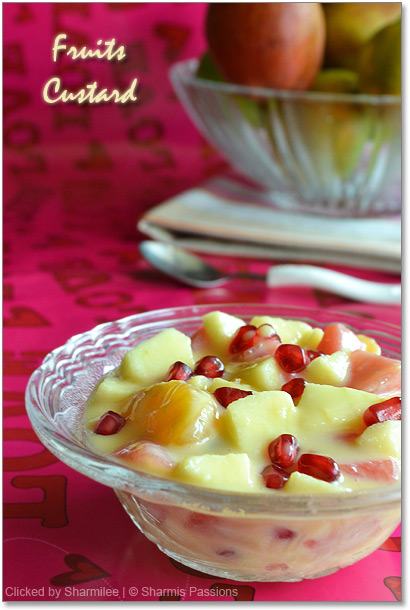 Fruits Custard Recipe
