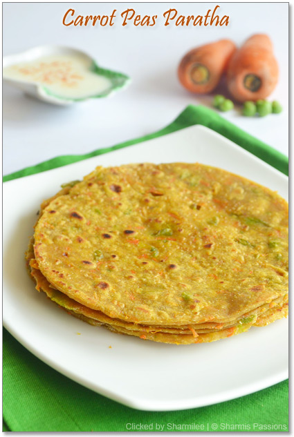 Carrot Peas Paratha Recipe