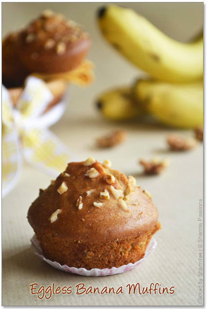 Eggless Banana Muffins Recipe