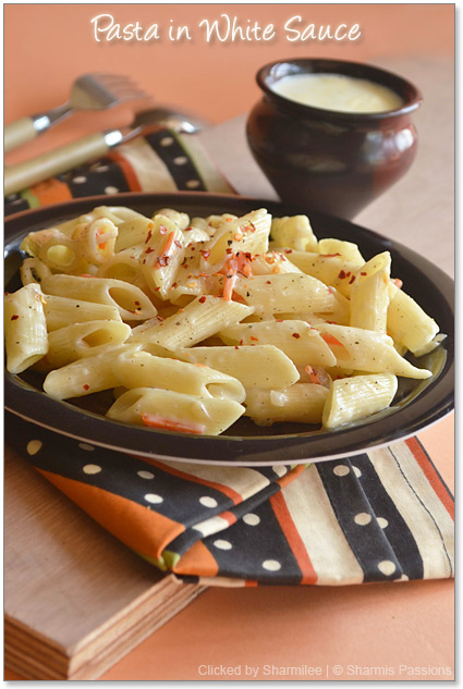 Pasta in white sauce Recipe