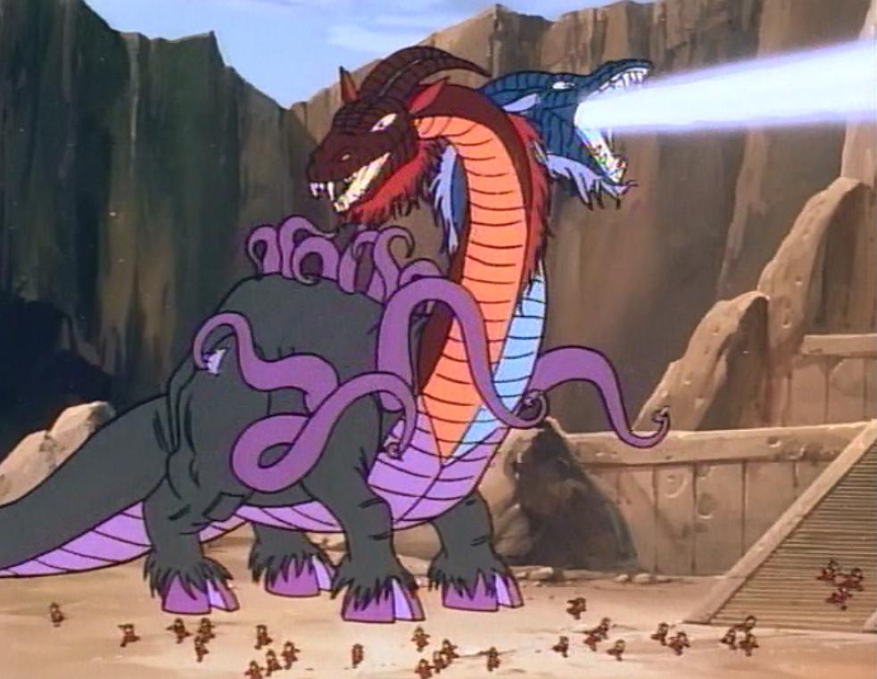 Demodragon wreaking destruction