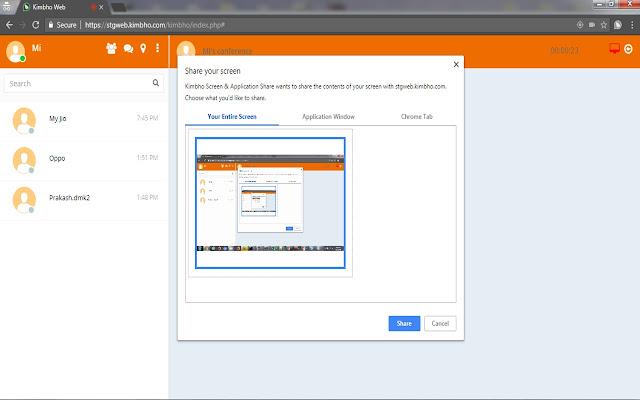 Kimbho Screen & Application Share