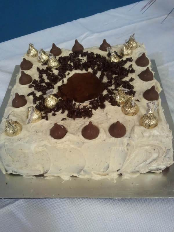Chocolate Marble Pound Cake With Mocha Cream Cheese Frosting,one Of 28 Desserts Featured At A Reunion Gathering In September 2012, In Arkansas.