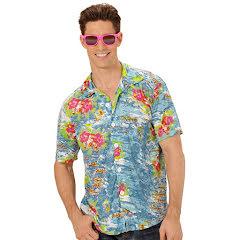 Hawaiiskjorta, ljusblå
