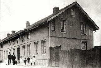 Photo: My maternal grandmother's father, Johans (Hans) Olsen's house in (Frederikschald, now Halden, Norway)