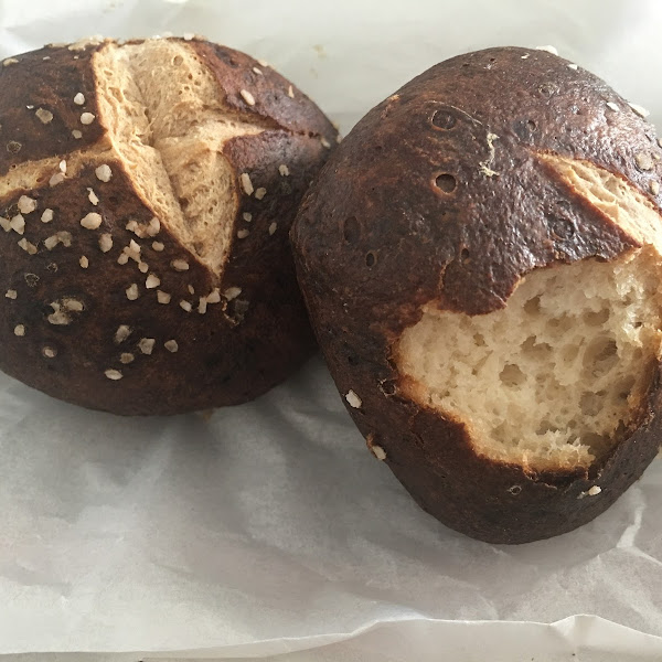 Delicious pretzel bread!