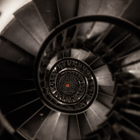 Stairs of The Monument London by Dimitri Foucault - Buildings & Architecture Architectural Detail ( stairs, london, pwcdetails, monument, circle )