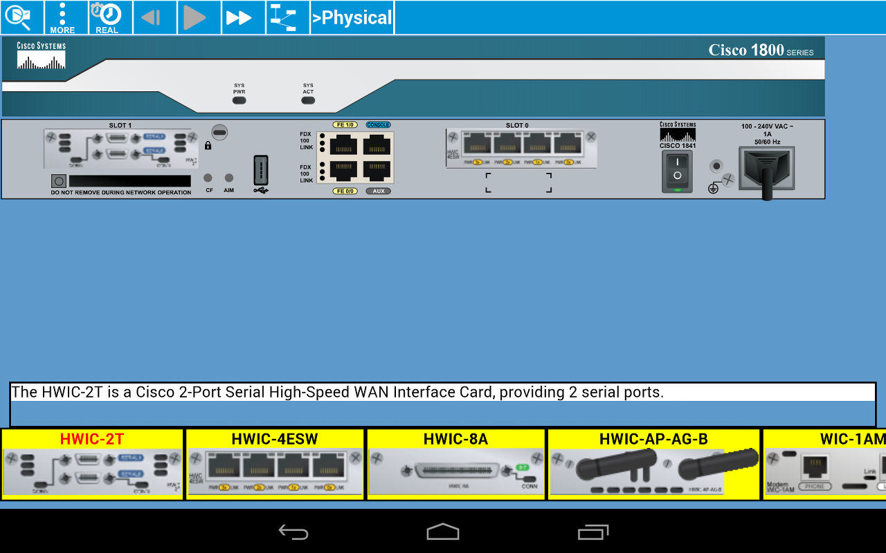 Cisco Packet Tracer Mobile- screenshot