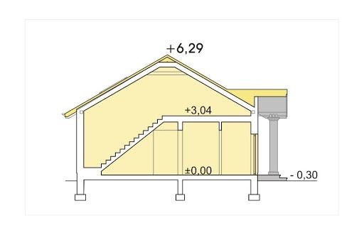 Madzia energo+ wersja A bez garażu - Przekrój