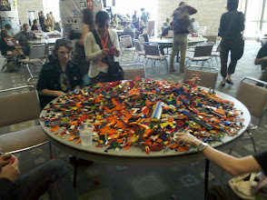 Photo: Lots of Legos! I'm guessing from the Lego Robotics competition.