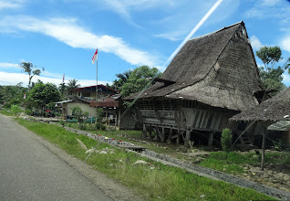 Photo: A traditional Nias island tribal home. The people of Nias speak their own tribal language...few know the national Bahasa Indonesia which is the national language.