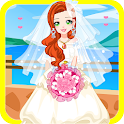 princess wedding dress up icon