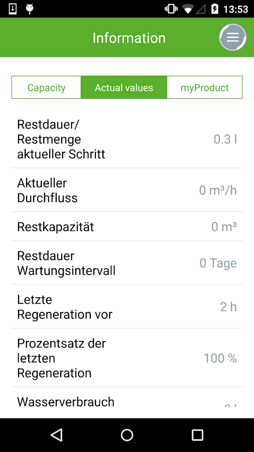 myGrünbeck- screenshot
