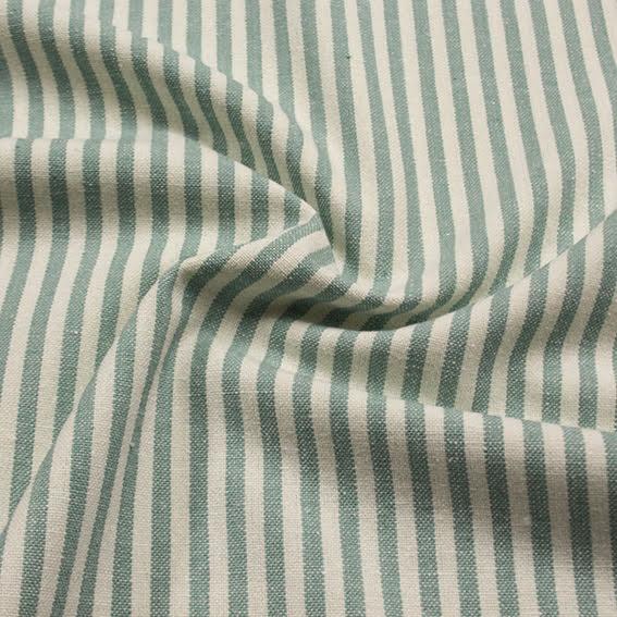 Smalrandig Återvunnen Bomull - ljusgrön