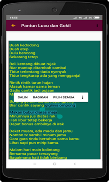 Pantun Cinta Gombal – Android Alkalmazások — AppAgg