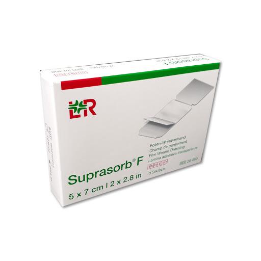 suprasorb f lamina adhesiva transparente 5x7cm Suprasorb F es un apósito transparente autoadhesivo para heridas, mantiene un entorno húmedo para la herida y por lo tanto, promueve la cicatrización de la herida.
