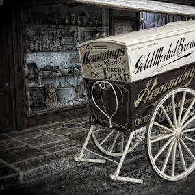Bakers Dozen by John Cuthbert - Products & Objects Business Objects ( art work, jctudios, old, vintage, post war, art, canvas, cart, war, olde, transport, bread, pre war )