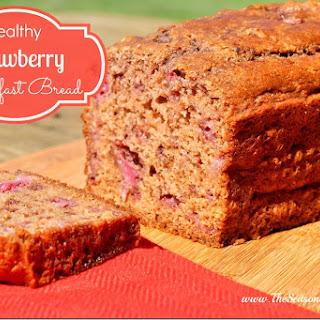 Healthy Strawberry Breakfast Bread.