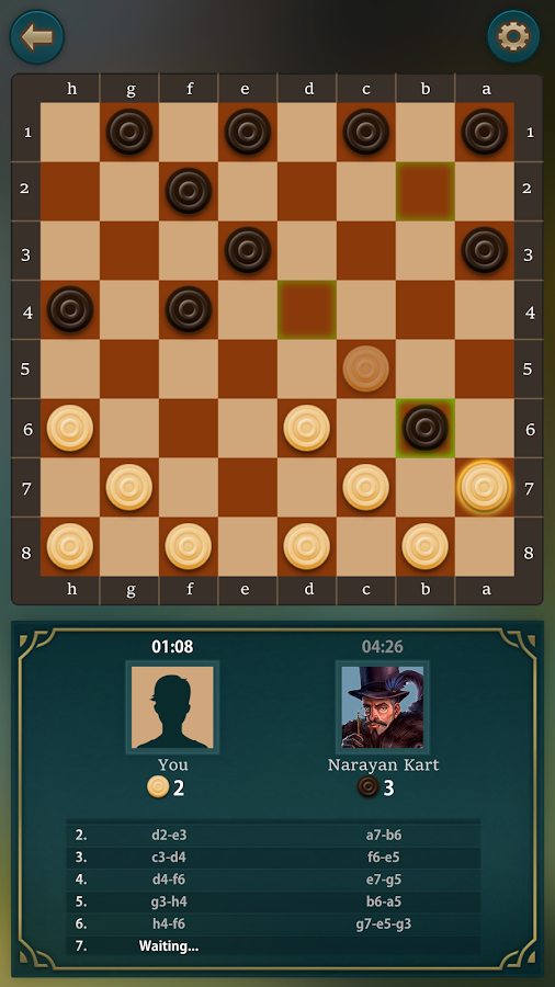 Checkers by SkillGameBoard- screenshot