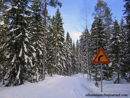 Знаки на лыжне