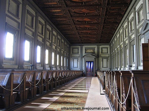 Biblioteca Medicea Laurenziana. Basilica di San Lorenzo, Florence, Italy