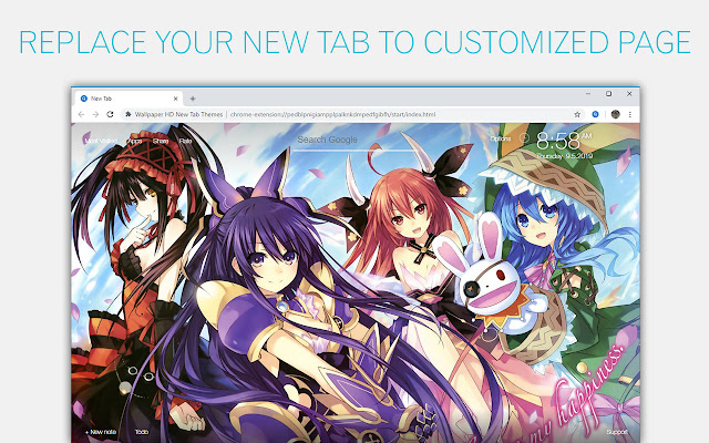 Date A Live Wallpapers Hd Custom Anime Newtab