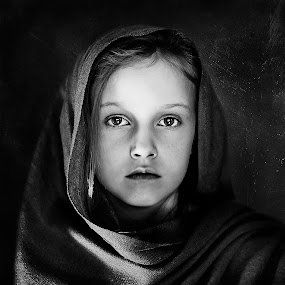 Priestess of innocence... by Andy Dyso - Black & White Portraits & People (  )