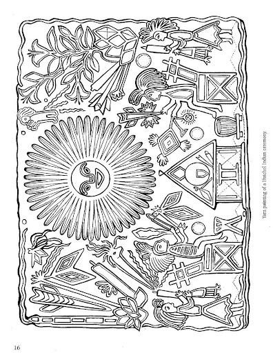 Mexican folk art coloring pages http for Folk art coloring pages