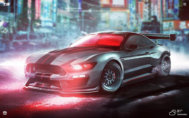 Ford Mustang GT500 HD Wallpaper New Tab Theme