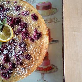 Gluten Free Meyer Lemon Raspberry Thyme Cake.