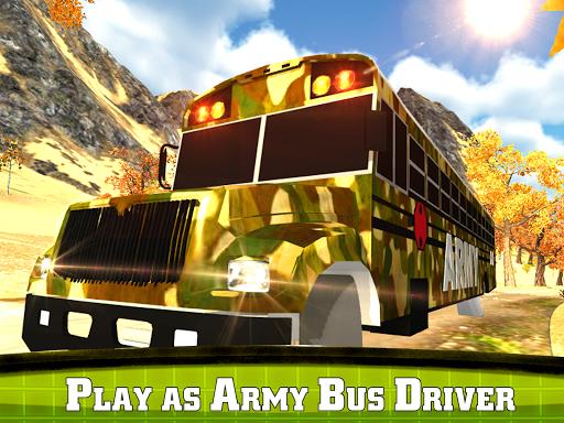 玩免費模擬APP|下載オフロード陸軍バスシミュレータ3D app不用錢|硬是要APP