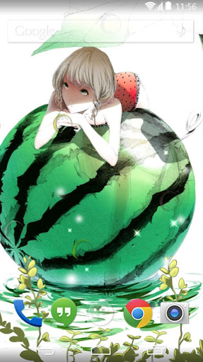 watermelon girl live wallpaper